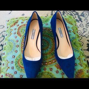 Blue Prada Heels